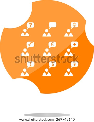vector Currency exchange icons, euro money sign and man sign, vector web button isolated ob white - stock vector