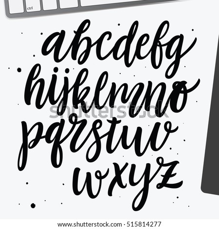 Hand Lettering Alphabet Stock Photos, Royalty-Free Images & Vectors ...