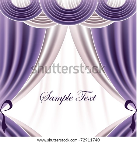 Vector Curtains. Abstract Background. - stock vector