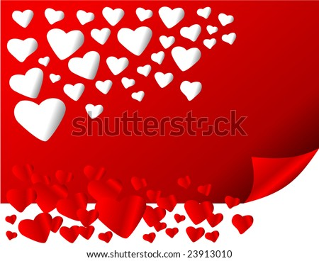 vector cut out hearts - stock vector