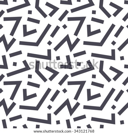 Vector cute abstract geometric lines seamless pattern background