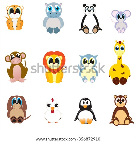 Vector cute animal collection