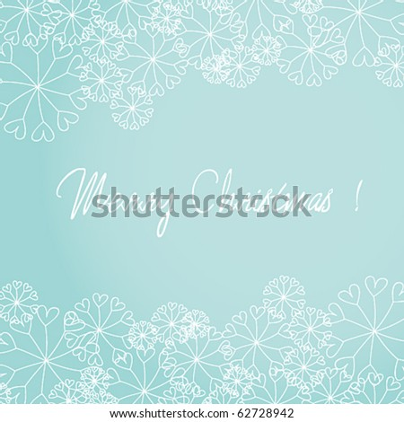 Vector cute Christmas greeting card - stock vector