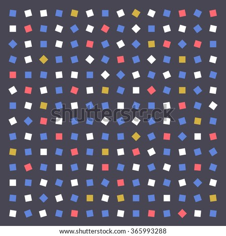 Vector cute colorful abstract geometric squares pattern background