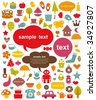 vector cute elements collection - stock photo