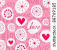 Vector cute hand drawn style doodle romantic Valentine's Day background illustration - stock vector