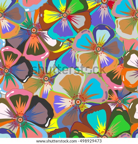 Vector cute pattern in small multicolor flower. Small colorful flowers. Motley illustration. Multicolored spring floral background. The elegant the template for fashion prints.