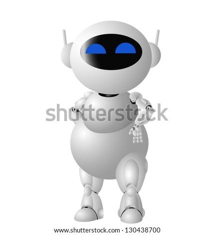 Vector cute robot - stock vector