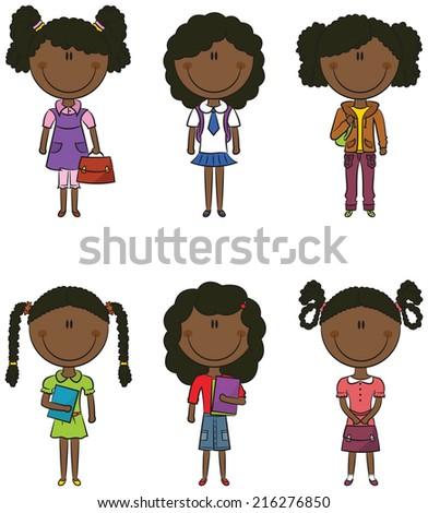 African School Children Stock Vectors, Images & Vector Art ...