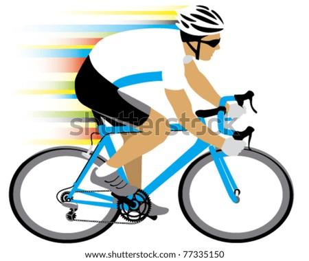 Vector cycle race - stock vector