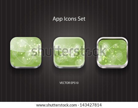Vector 3d app icons