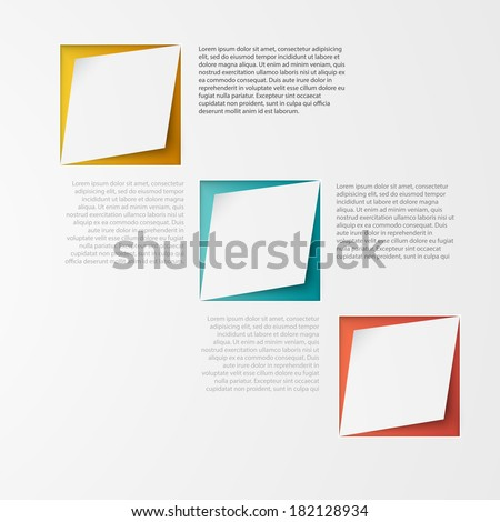 Vector 3d banners and squares. Design background - stock vector
