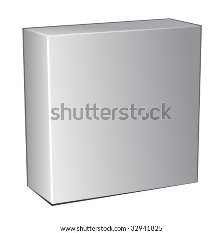 vector 3d box - stock vector