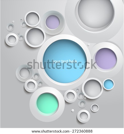 Vector 3d bubble for message - stock vector