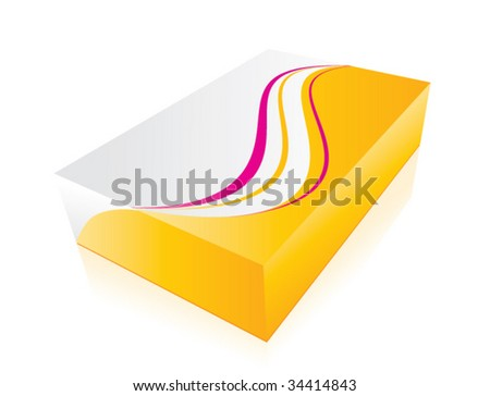 VECTOR 3d colorful box - stock vector