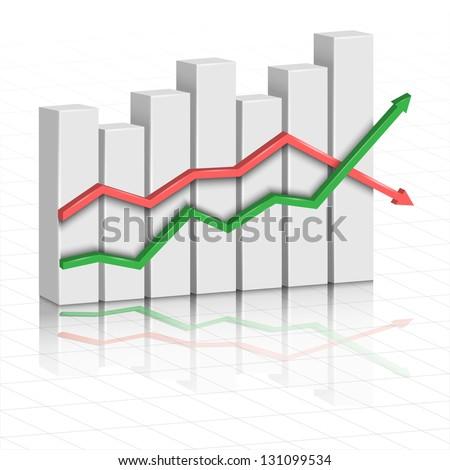 Vector 3d diagram - stock vector
