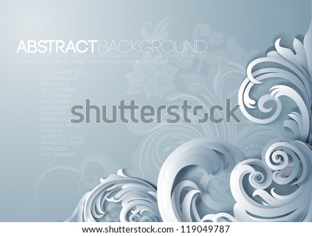 Vector 3d frame ornament, with space for calligraphic elements