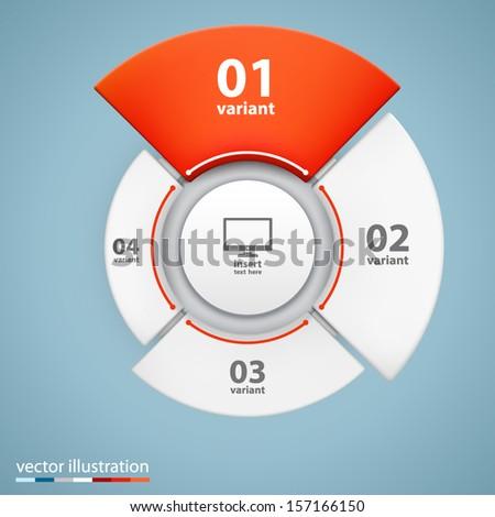 vector 3d growth chart.  - stock vector