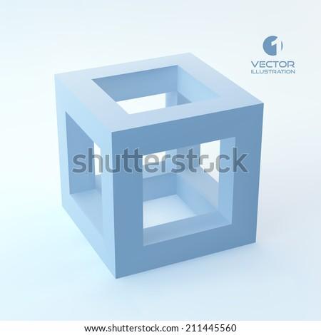 Vector 3D illustration. - stock vector