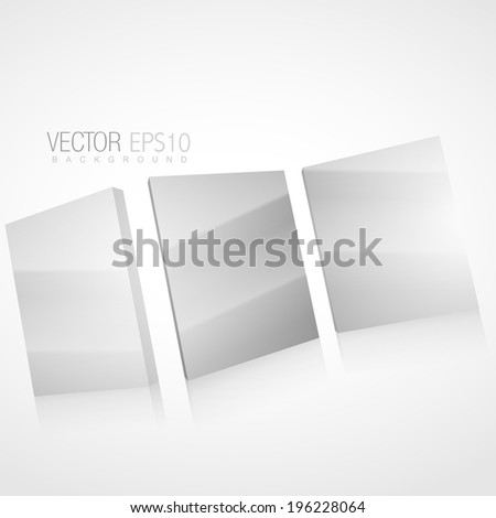 vector 3d mirror background illustration - stock vector