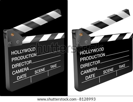 vector 3D view of the movie clapboard