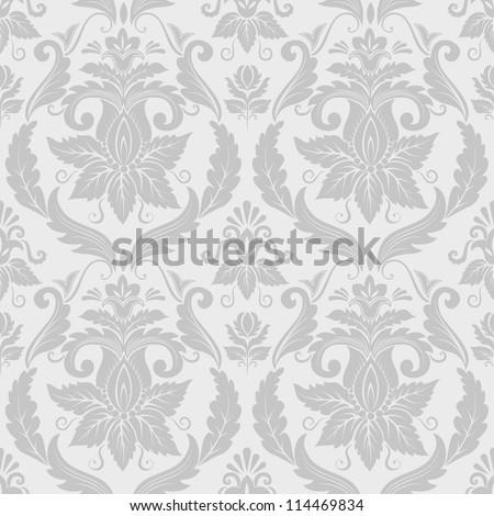 Vector damask pattern background - stock vector