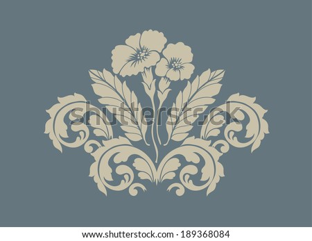 Vector. damask pattern, Baroque Seamless Pattern - stock vector