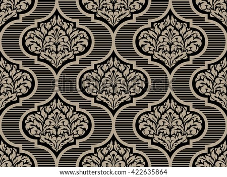 Vector damask seamless pattern background. Classical luxury old fashioned damask ornament, royal Victorian seamless texture for wallpapers, textile, wrapping.  - stock vector