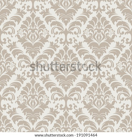 Vector Seamless Floral Damask Pattern Wedding Stock Vector ...