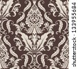 Vector damask seamless pattern element. Elegant luxury texture for wallpapers, backgrounds and page fill. - stock photo