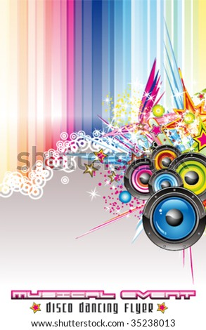 VECTOR Dance and Music Event Background for poster or flyers