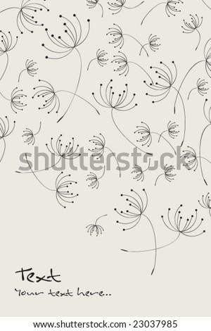 vector dandelion pattern - stock vector