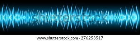 vector dark blue sound wave, abstract pulse background. speaker. music. infographics.
