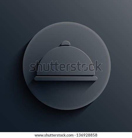 Vector dark circle icon. Eps10 - stock vector