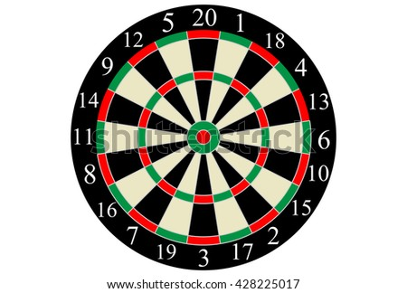 Vector dart board target isolated