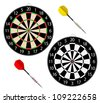 Vector dartboards isolated on white background. With meshes. - stock vector