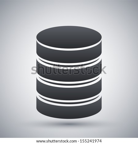 Vector database icon - stock vector