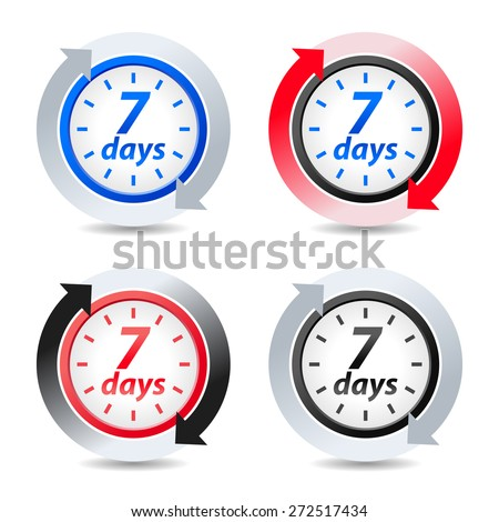 Vector 7 days - stock vector