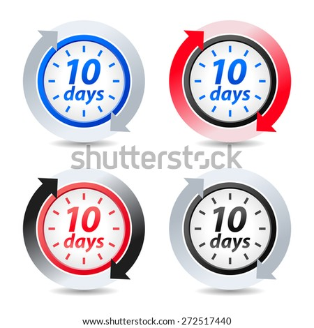 Vector 10 days - stock vector