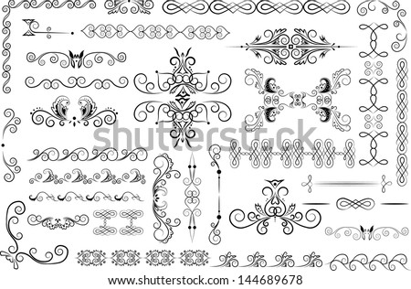 vector decor elements - stock vector