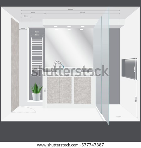 Toilette door stock images royalty free images vectors for Small bathroom design templates
