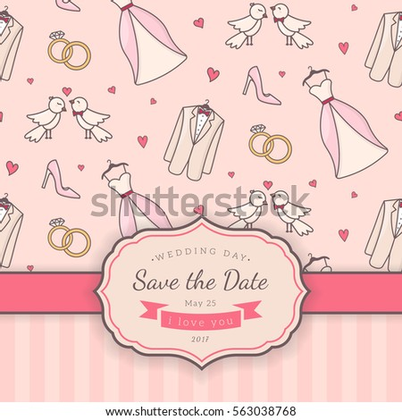 Vector decorative background for sweet romantic design.