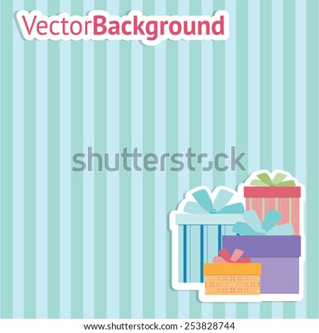 Vector decorative Background with Boxes. - stock vector