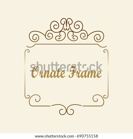 50th wedding anniversary invitation beautiful vector stock vector vector decorative element for design frame template with place for text fine floral border stopboris Gallery