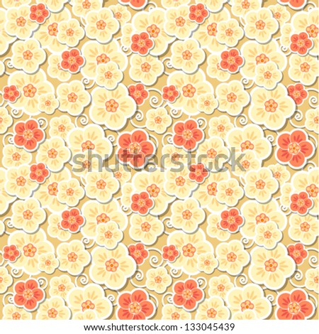 Vector - decorative floral seamless background