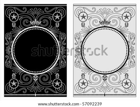Vector decorative frame. Easy to scale and edit. - stock vector