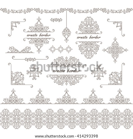 black and white damask border template