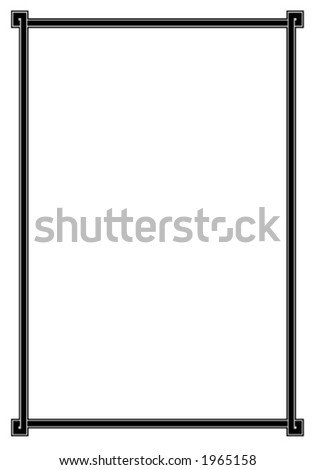 Vector decorative frame. This is a vector image - you can simply edit colors and shapes - stock vector