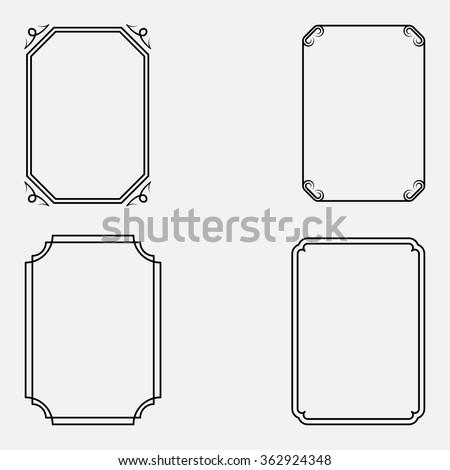Vector decorative frames - stock vector