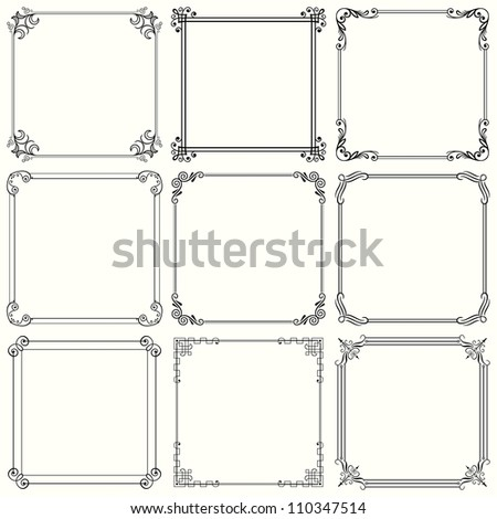 Vector decorative frames (set 28) - stock vector